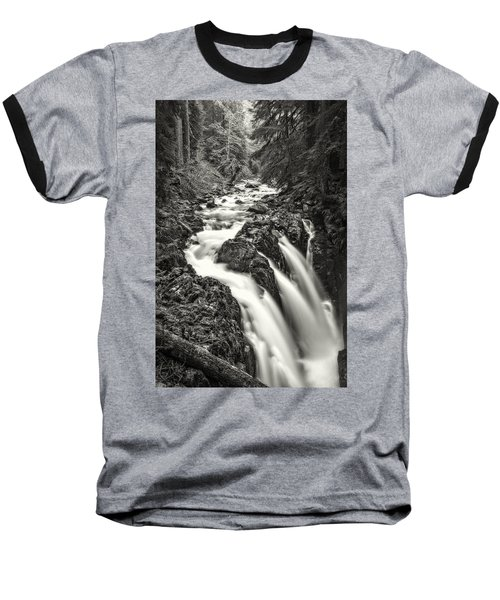 Forest Water Flow Baseball T-Shirt by Ken Stanback