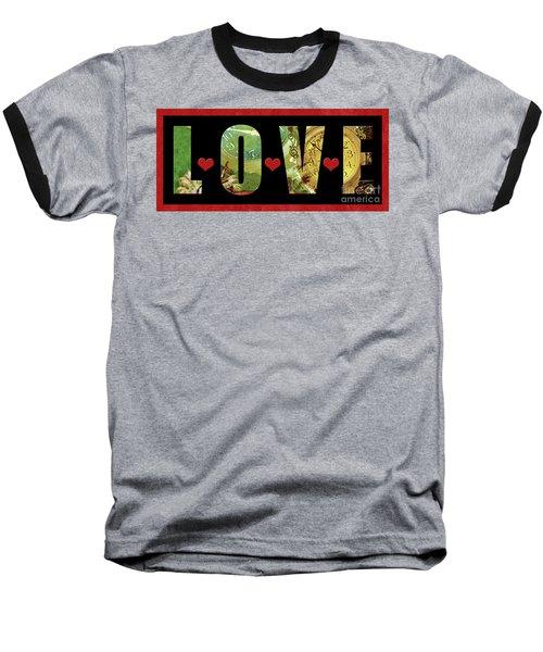 Forever Love Baseball T-Shirt by Claudia Ellis
