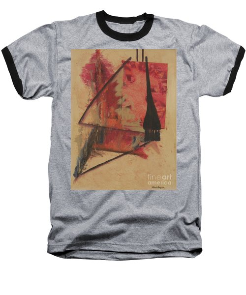 Baseball T-Shirt featuring the painting Forgive My Tears by Mini Arora
