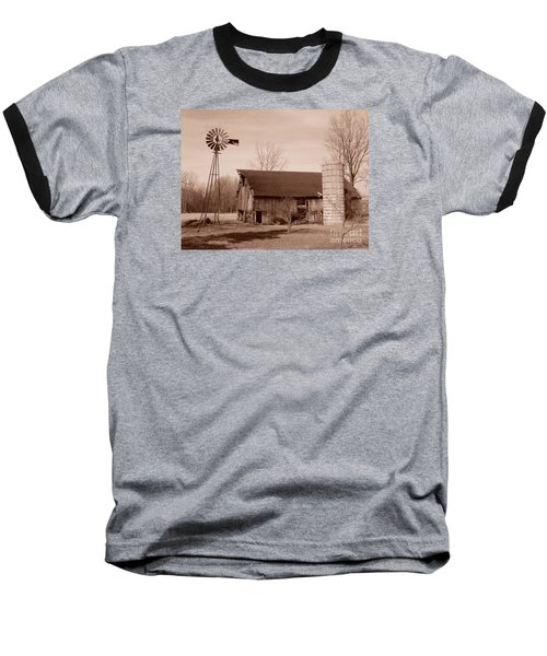 Forgotten Farm Baseball T-Shirt by Judy Whitton