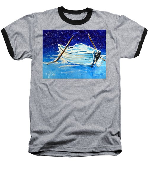 Forgotten Rowboat Baseball T-Shirt by Jackie Carpenter