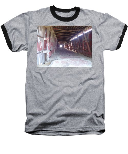 Baseball T-Shirt featuring the photograph Forgotten Tunnel by Fortunate Findings Shirley Dickerson