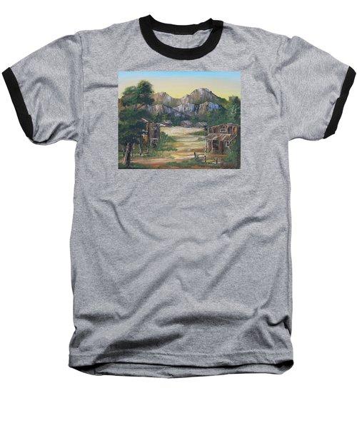Forgotten Village Baseball T-Shirt by Remegio Onia