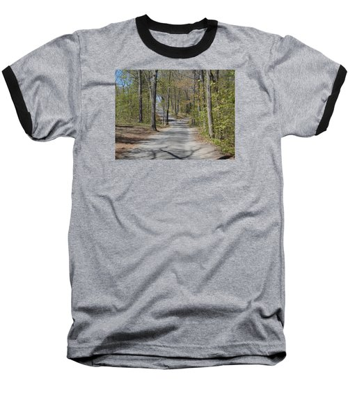 Fork In The Road Baseball T-Shirt by Catherine Gagne