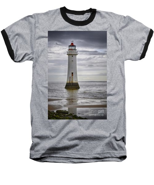 Fort Perch Lighthouse Baseball T-Shirt by Spikey Mouse Photography