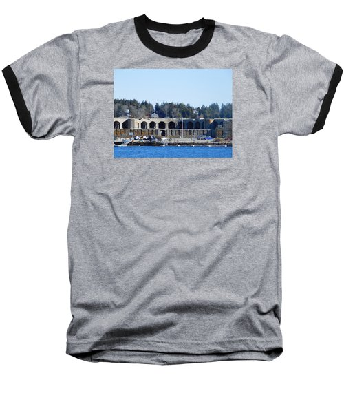 Fort Popham In Maine Baseball T-Shirt by Catherine Gagne