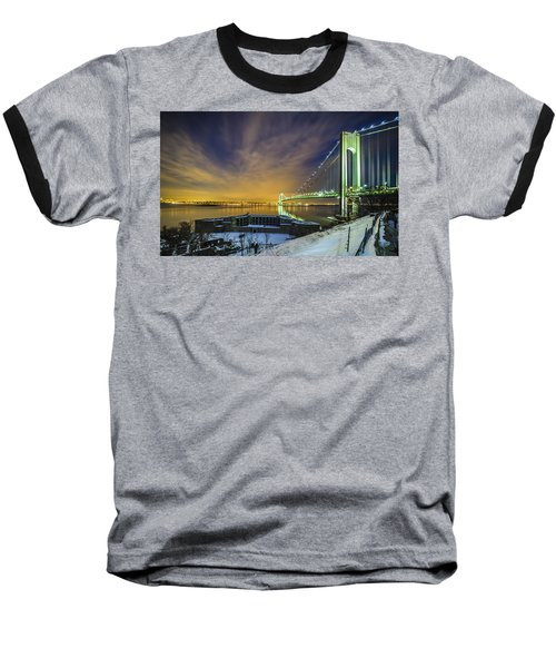 Fort Wadsworth And Verrazano Bridge Baseball T-Shirt