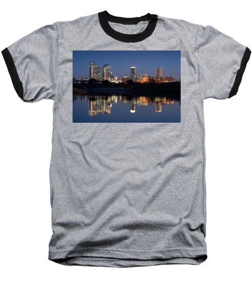 Fort Worth Skyline 020915 Baseball T-Shirt