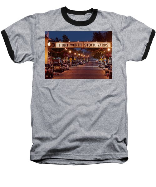 Fort Worth Stock Yards Night Baseball T-Shirt