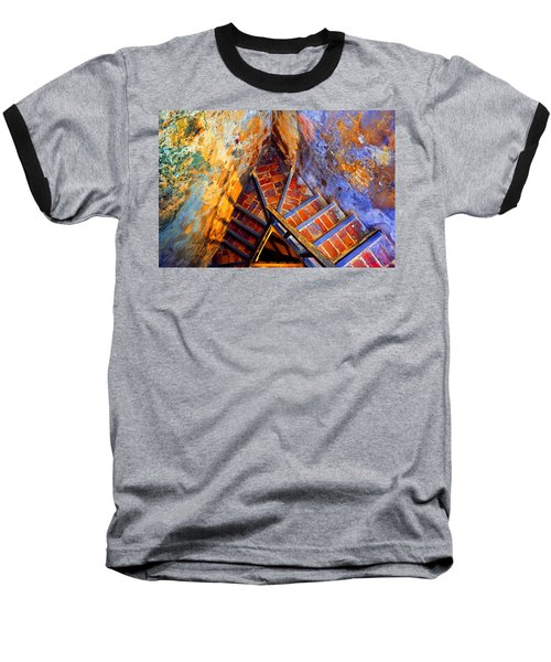 Fortress Steps Baseball T-Shirt by Stephen Anderson