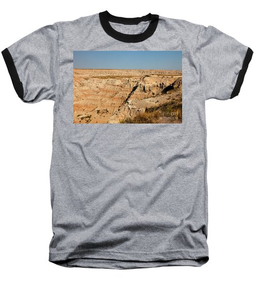 Fossil Exhibit Trail Badlands National Park Baseball T-Shirt