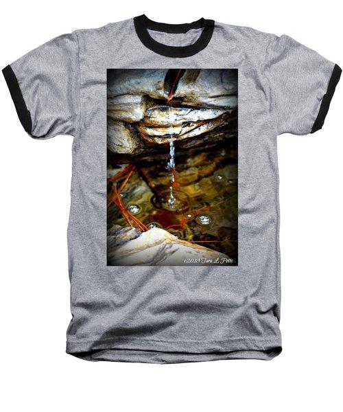 Baseball T-Shirt featuring the photograph Fountain Drops by Tara Potts