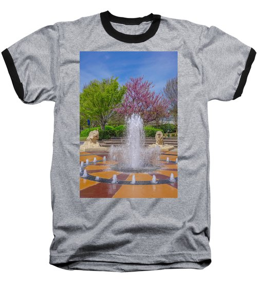Fountain In Coolidge Park Baseball T-Shirt