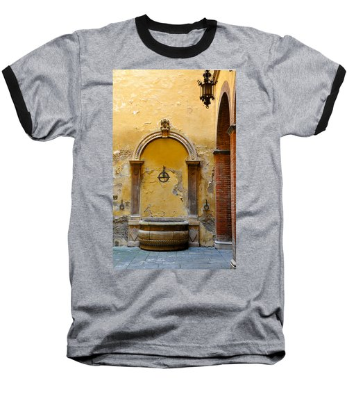 Fountain In Sienna Baseball T-Shirt