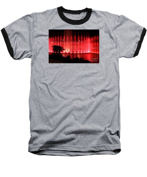 Baseball T-Shirt featuring the photograph Fountain Of Red by Geraldine DeBoer