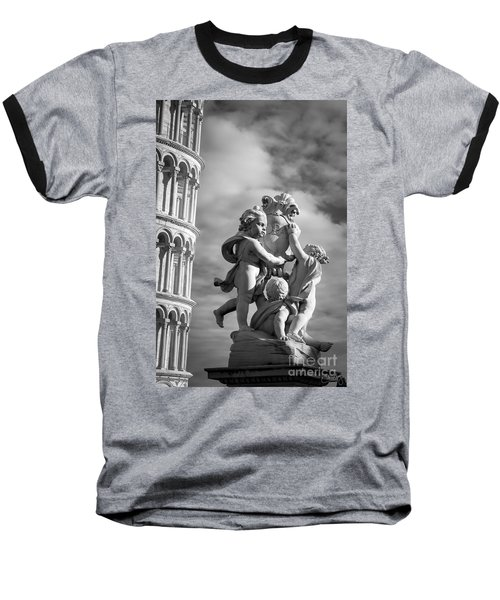 Fountain With Angels Baseball T-Shirt