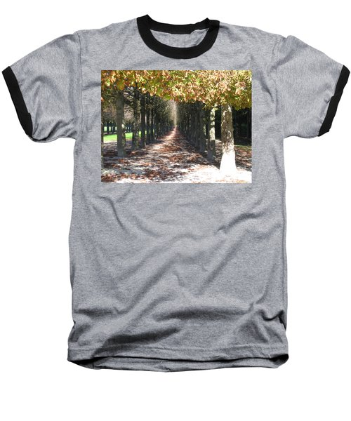 Fountainebleau - Under The Trees Baseball T-Shirt by HEVi FineArt