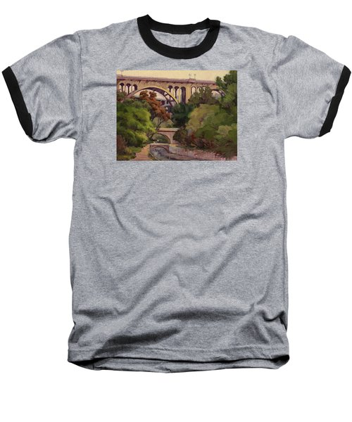 Four Bridges Baseball T-Shirt by Jane Thorpe