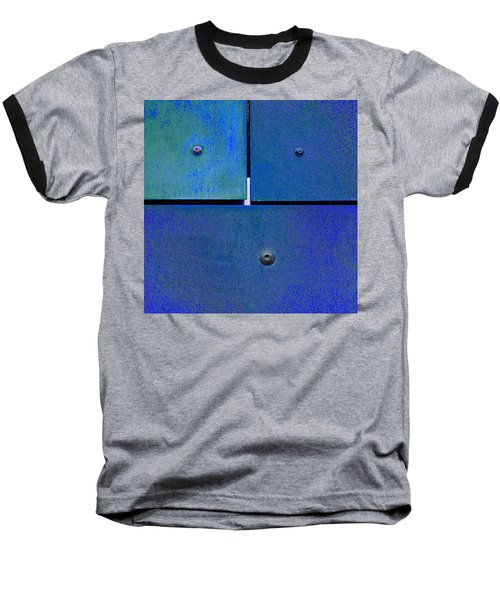 Baseball T-Shirt featuring the photograph Four Five Six - Colorful Rust - Blue by Menega Sabidussi