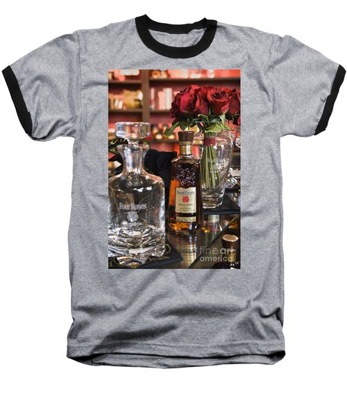 Four Roses Single Barrel - D008612 Baseball T-Shirt by Daniel Dempster