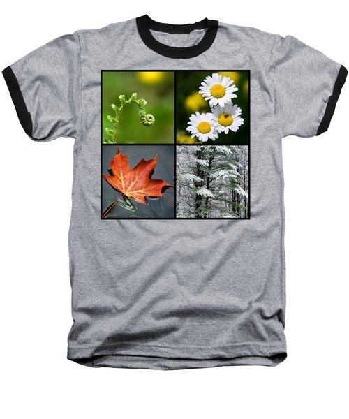 Baseball T-Shirt featuring the photograph Four Seasons Nature Square by Christina Rollo
