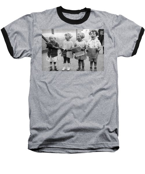 Four Young Children Singing Baseball T-Shirt