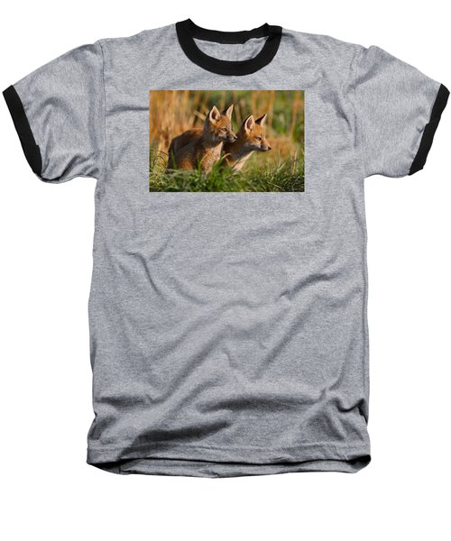 Fox Cubs At Sunrise Baseball T-Shirt