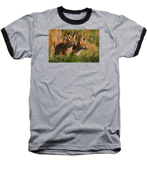 Fox Cubs At Sunrise Baseball T-Shirt