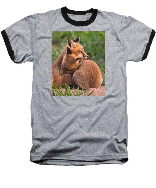 Fox Cubs Cuddle Baseball T-Shirt