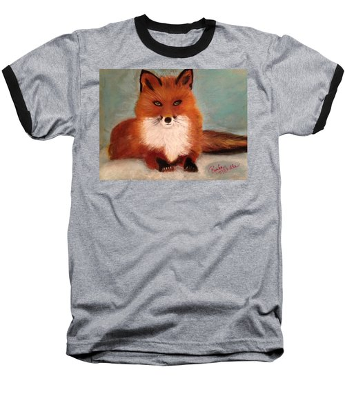 Fox In The Snow Baseball T-Shirt