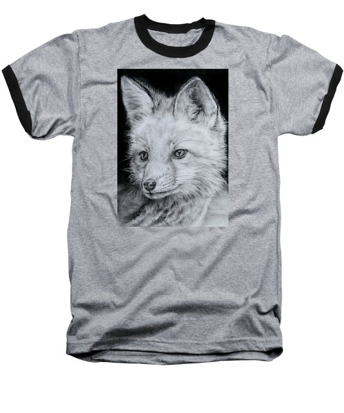 Fox Kit Baseball T-Shirt by Jean Cormier