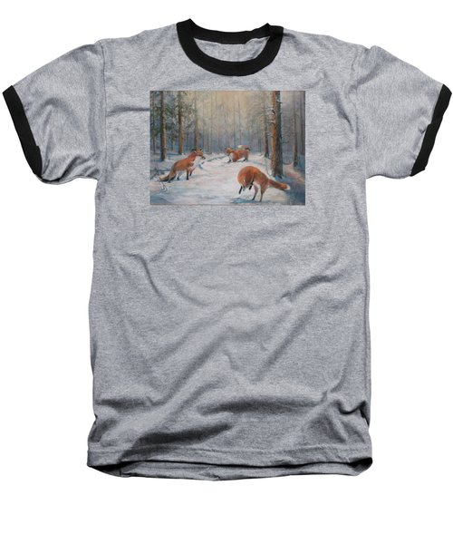 Forest Games Baseball T-Shirt by Donna Tucker