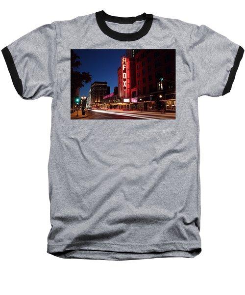 Fox Theater Twilight Baseball T-Shirt