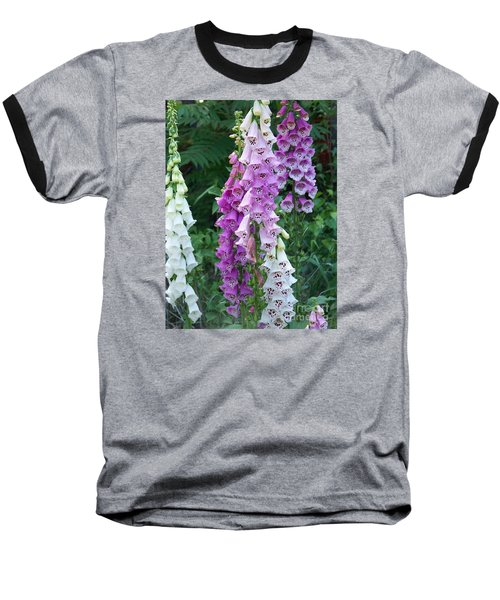 Foxglove After The Rains Baseball T-Shirt by Eunice Miller