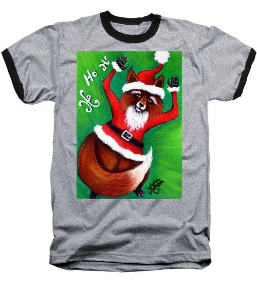 Foxy Santa Baseball T-Shirt
