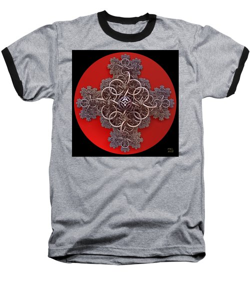Baseball T-Shirt featuring the digital art Fractal Cruciform by Manny Lorenzo