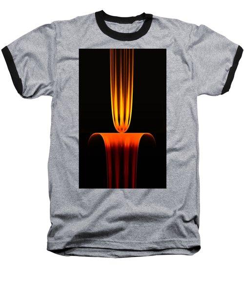 Baseball T-Shirt featuring the digital art Fractal Flame by GJ Blackman