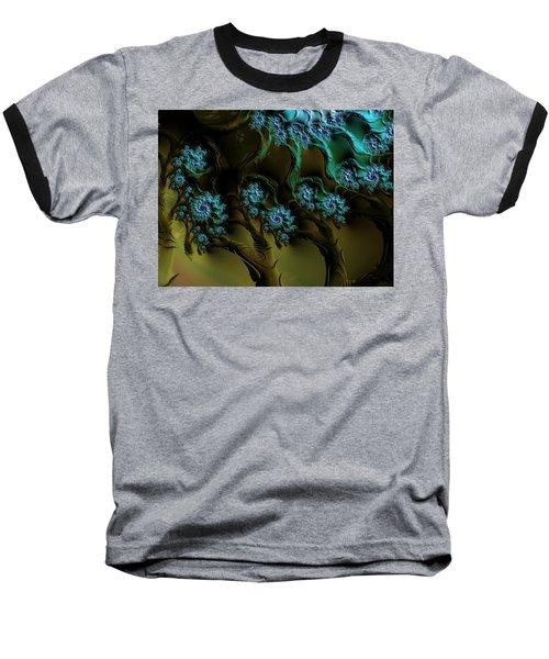 Fractal Forest Baseball T-Shirt by GJ Blackman