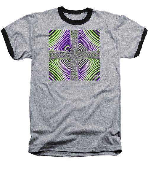 Baseball T-Shirt featuring the digital art Fractal Four by Joan Hartenstein