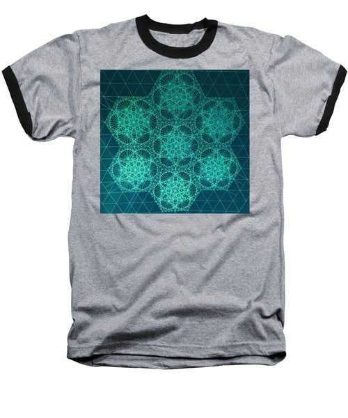 Baseball T-Shirt featuring the drawing Fractal Interference by Jason Padgett