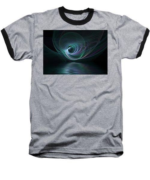 Fractal Lake Baseball T-Shirt