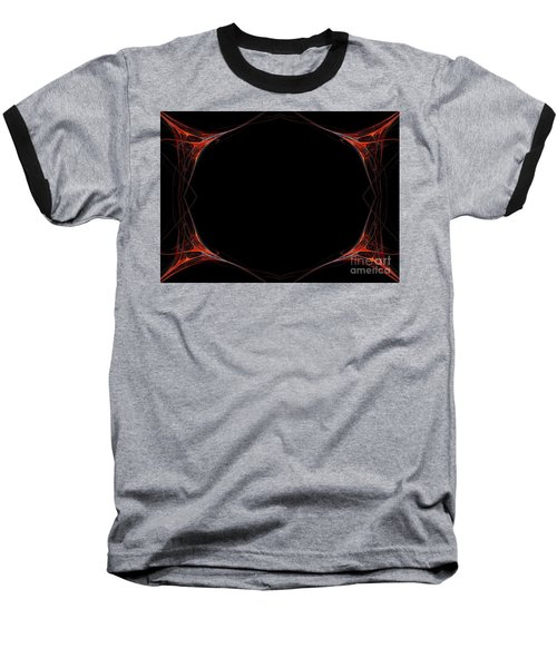 Baseball T-Shirt featuring the digital art Fractal Red Frame by Henrik Lehnerer