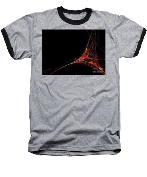 Baseball T-Shirt featuring the photograph Fractal Red by Henrik Lehnerer