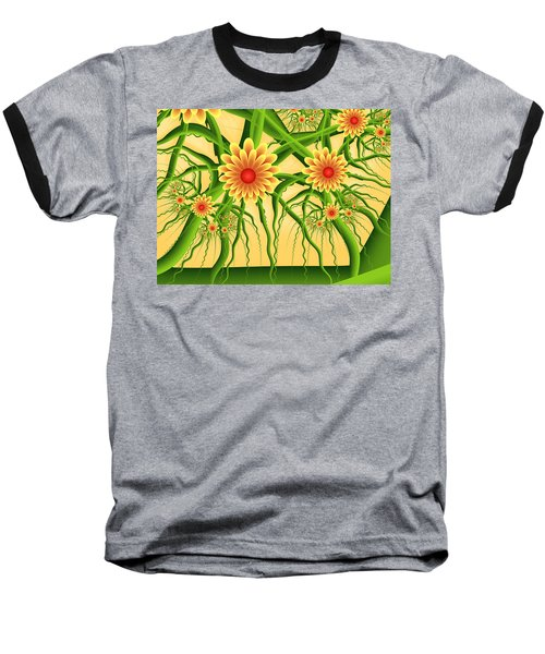 Fractal Summer Pleasures Baseball T-Shirt