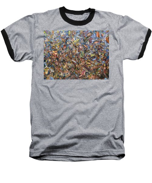 Baseball T-Shirt featuring the painting Fragmented Fall by James W Johnson