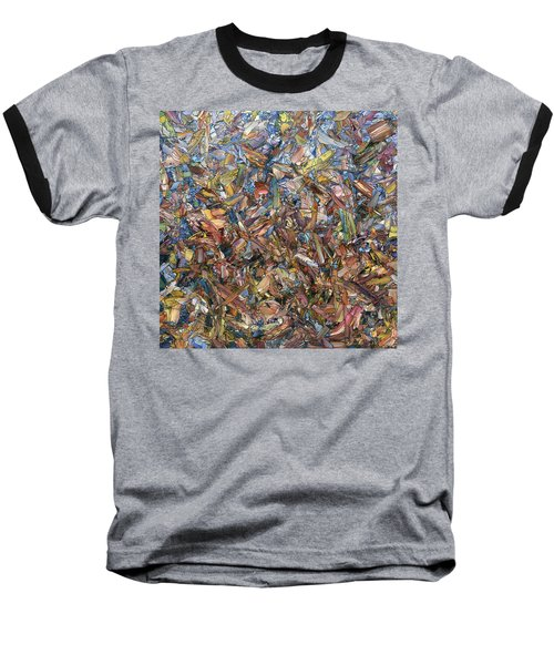 Baseball T-Shirt featuring the painting Fragmented Fall - Square by James W Johnson
