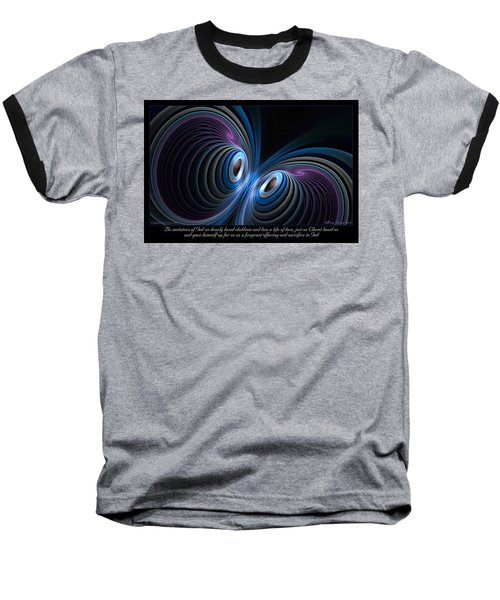 Baseball T-Shirt featuring the digital art Fragrant Offering by Missy Gainer