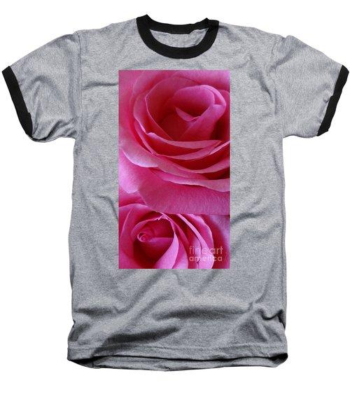 Face Of Roses 3 Baseball T-Shirt by Gem S Visionary