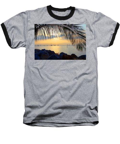 Framed By Fronds Baseball T-Shirt