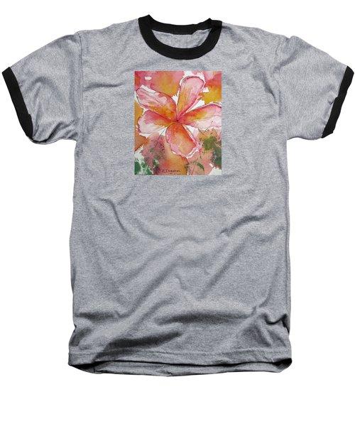 Frangipani Baseball T-Shirt by Elvira Ingram